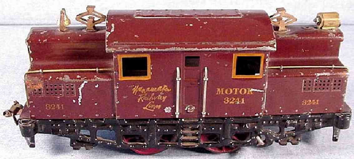 ives 3242 1921 wanamaker motor 3241 engine electric locomotive red wide gauge