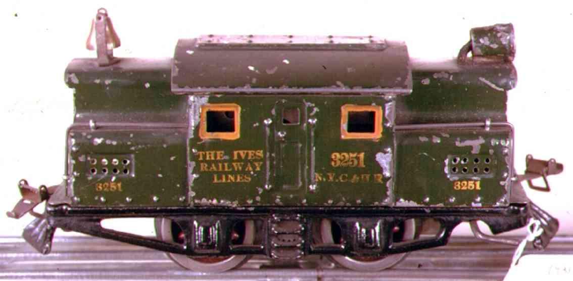ives 3251 1925 spielzeug eisenbahn elektrolokomotive gruen spur 0