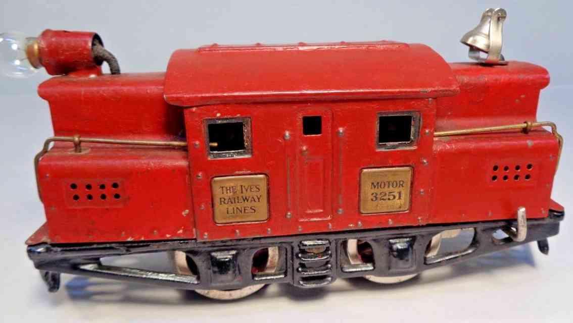 ives 3251 1926 spielzeug eisenbahn elektrolokomotive dunkelrot spur 0