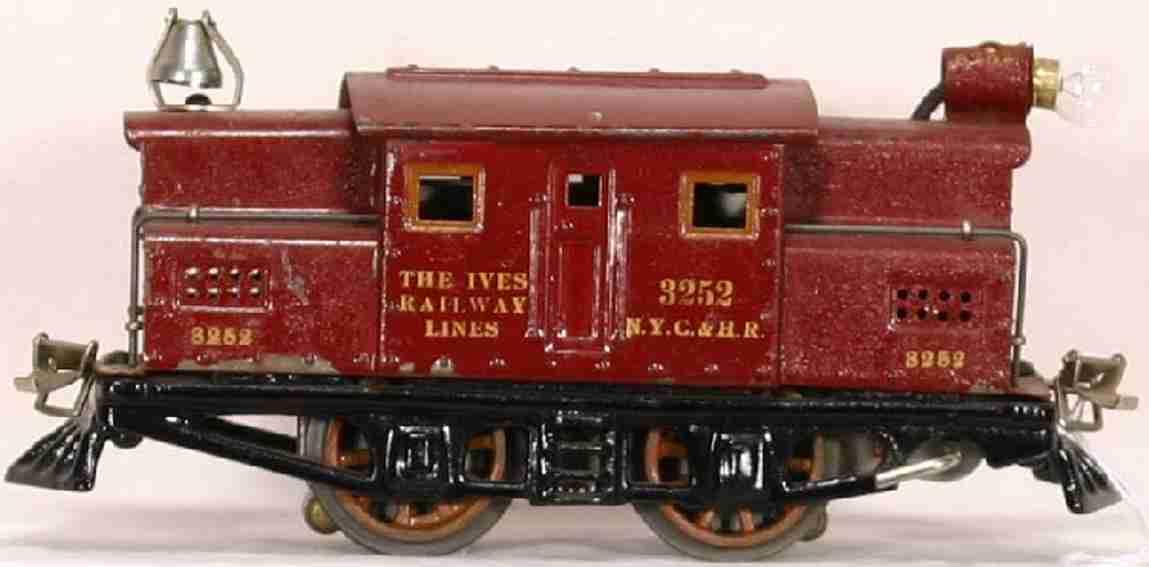 ives 3252 1922 spielzeug eisenbahn elektrolokomotive kastanienbraun spur 0