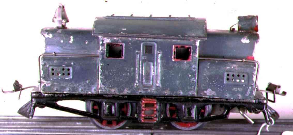 ives 3252 1920 spielzeug eisenbahn elektrolokomotive pfauenblau spur 0
