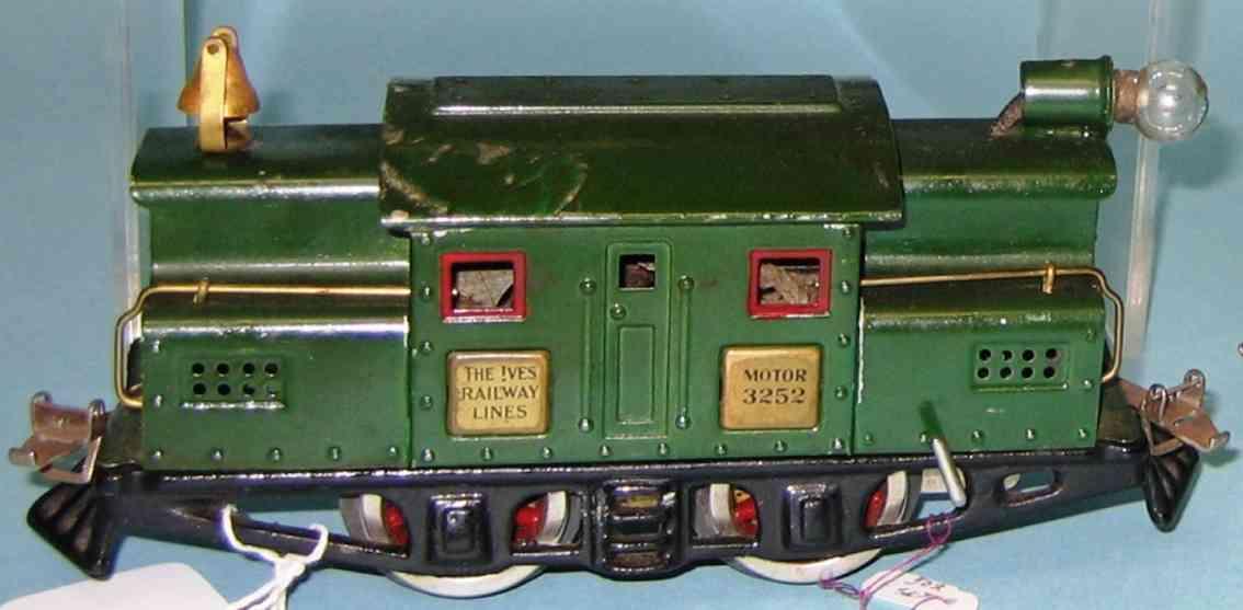 ives 3252 1927 spielzeug eisenbahn elektrolokomotive gruen spur 0