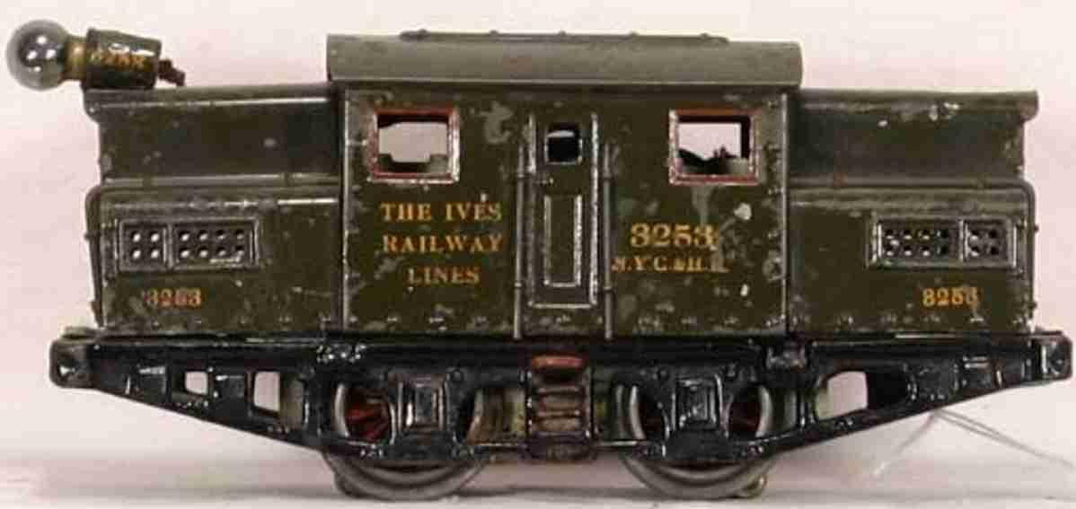ives 3253 1921 spielzeug eisenbahn elektrolokomotive gruen spur 0
