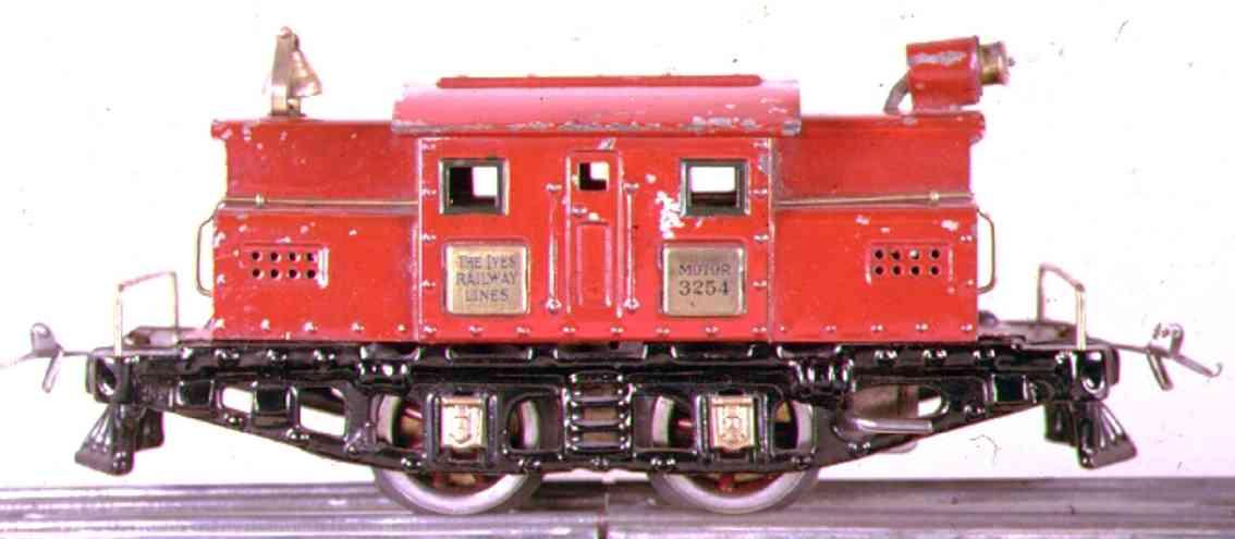 ives 3254 1925 spielzeug eisenbahn elektrolokomotive rot spur 0