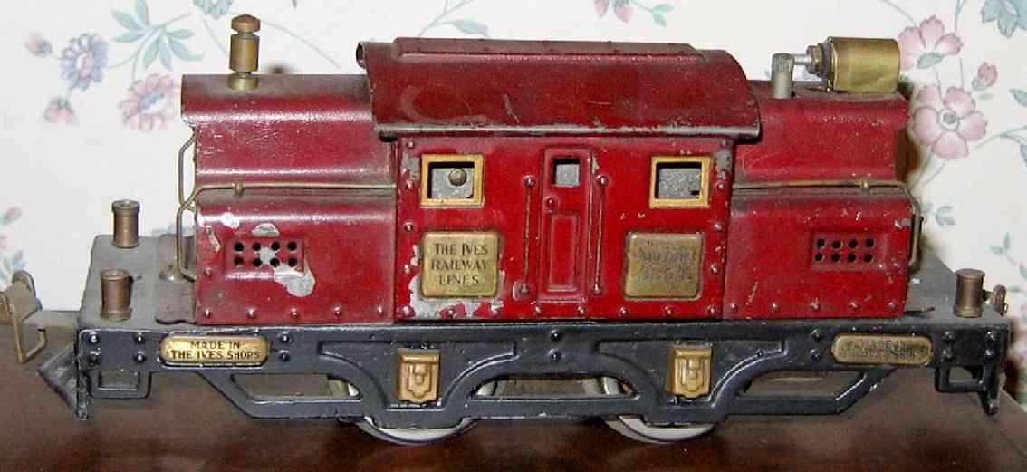 ives 3254 1928 spielzeug eisenbahn elektrolokomotive kardinalrot spur 0
