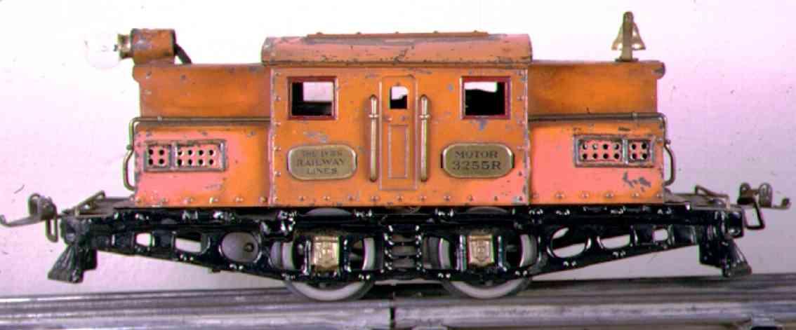 ives 3255r 1925 spielzeug eisenbahn elektrolokomotive spur 0