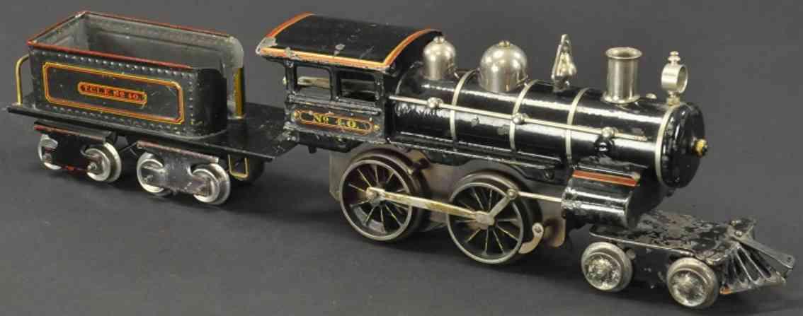 ives eisenbahn dampflokomotive 40 tender 40 schwarz erste serie spur 1