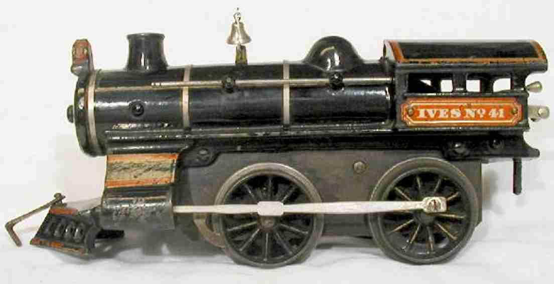 ives 41 spielzeug eisenbahn lokomotive 0-4-0 aus gußeisen mit einer vernickelten glocke,