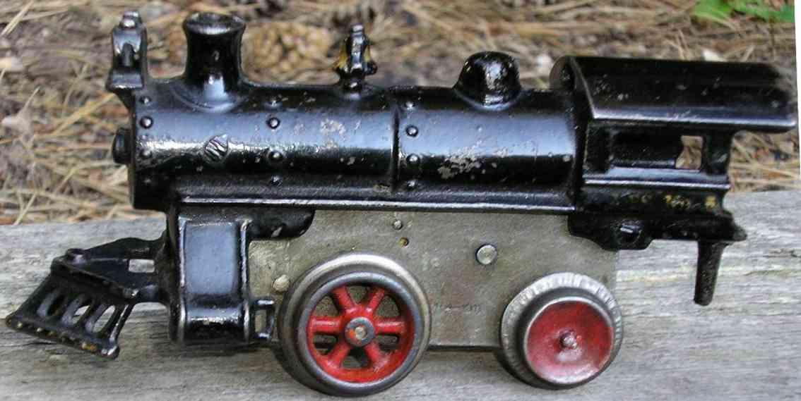 ives 5 1911 railway toy engine clockwork locomotive cast iron black gauge 0