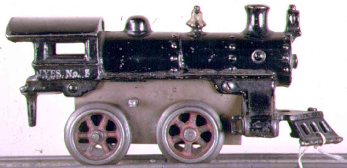 ives 5 1913 spielzeug eisenbahn uhrwerklokomotive gusseisen schwarz spur 0