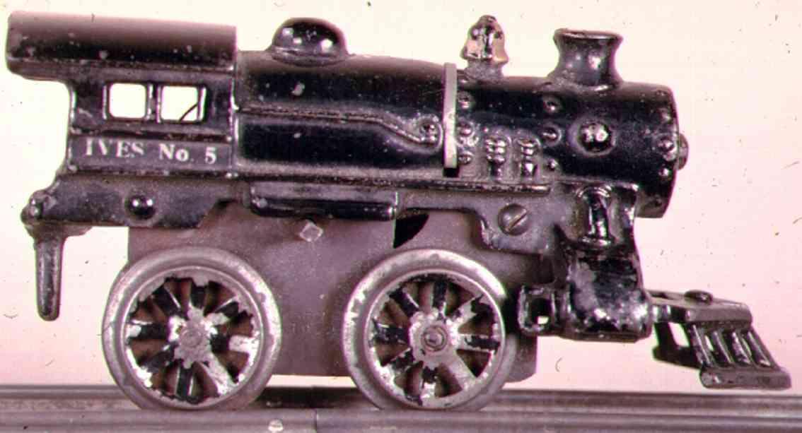 ives 5 1917 spielzeug eisenbahn uhrwerklokomotive gusseisen schwarz spur 0