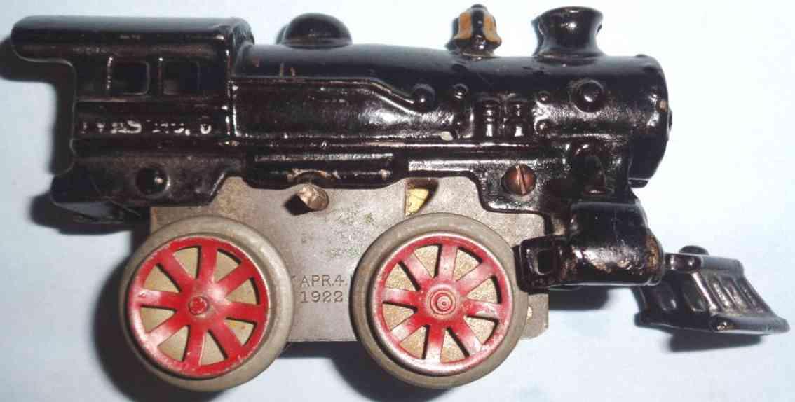 ives 5 1922 railway toy engine clockwork locomotive cast iron black gauge 0