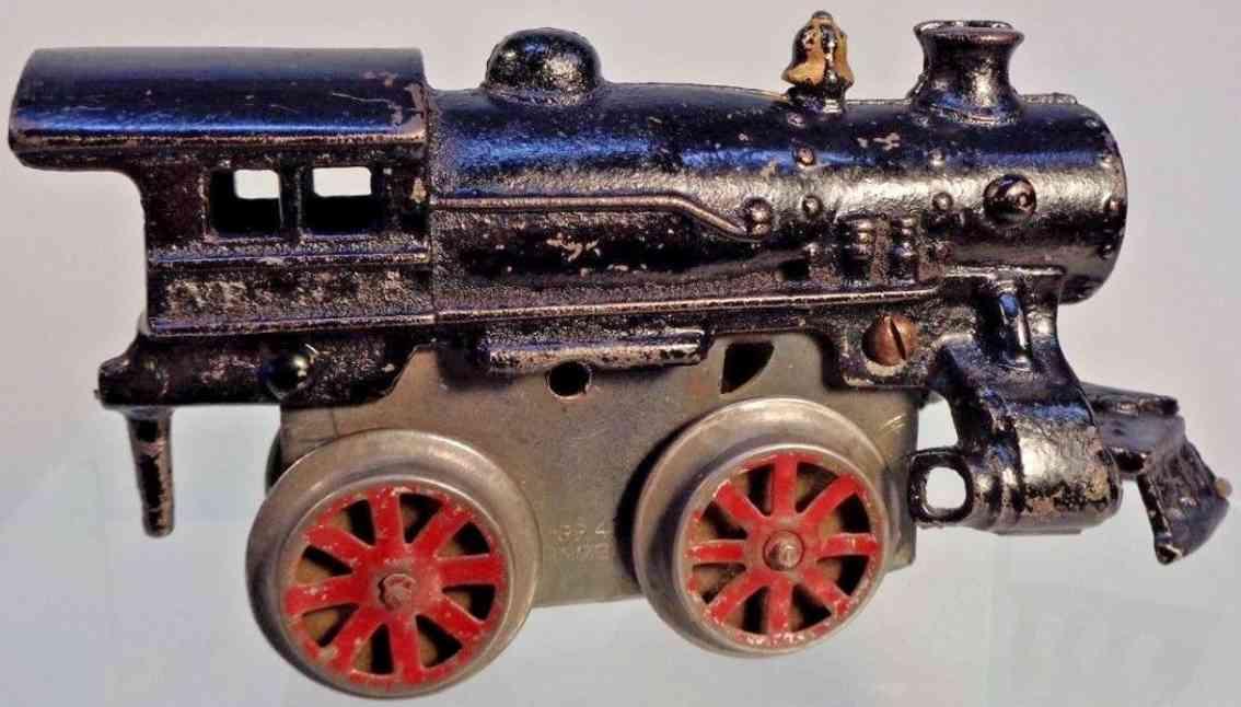 ives 5 1924 railway toy engine clockwork locomotive cast iron black gauge 0