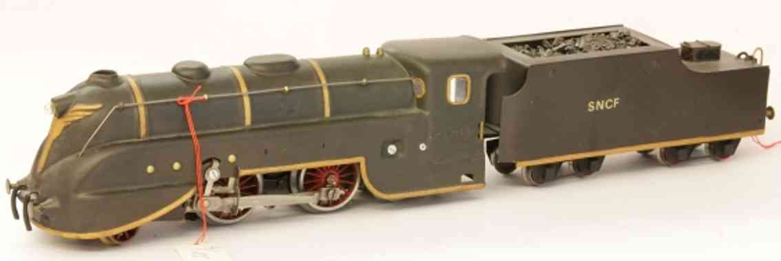 jep 5764 LT railway toy engine 20 volts stream line steam locomotive, 1'b2'/4a, in brown an