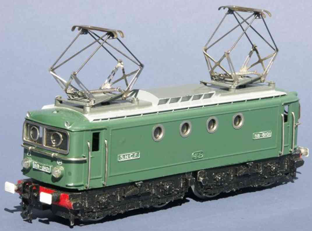 jep 6069 L railway toy engine electric locomotive 1'b1' in green, gray and black, hevay di