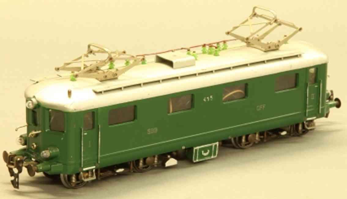keiser alois spielzeug eisenbahn lokomotive leichtschnellzug elektrolokomotive b0'b0' der sbb cff in grü