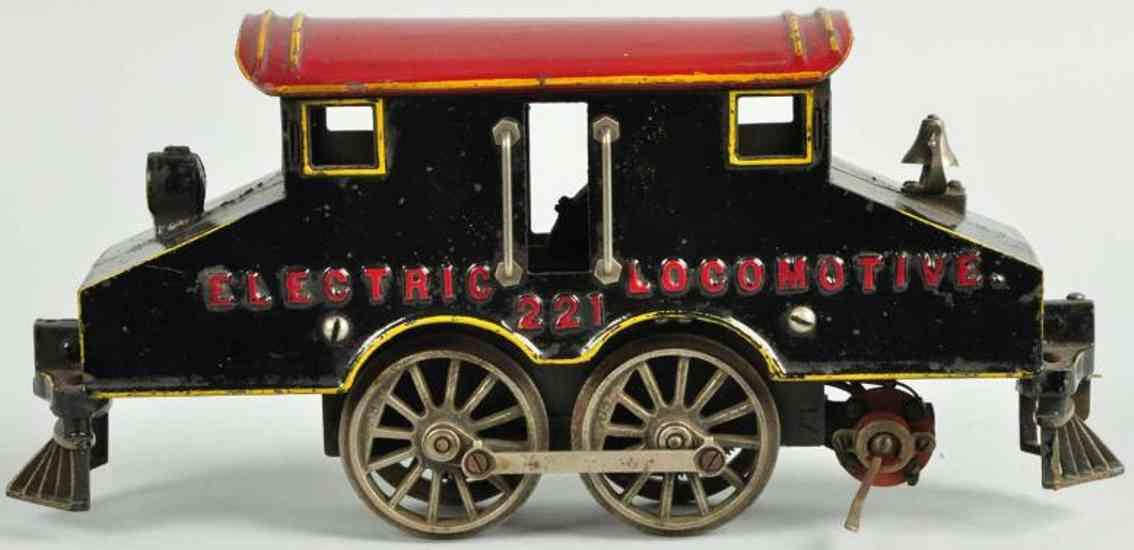 knapp 221 railway toy engine steeple cab electric locomotive standard gauge