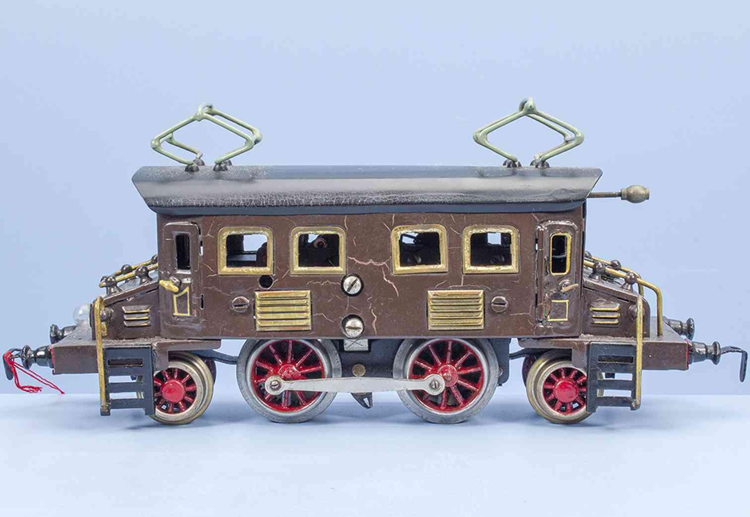 kraus-fandor 1028/18 1928 eisenbahn 20 volt vollbahnlokomotive braun spur 0