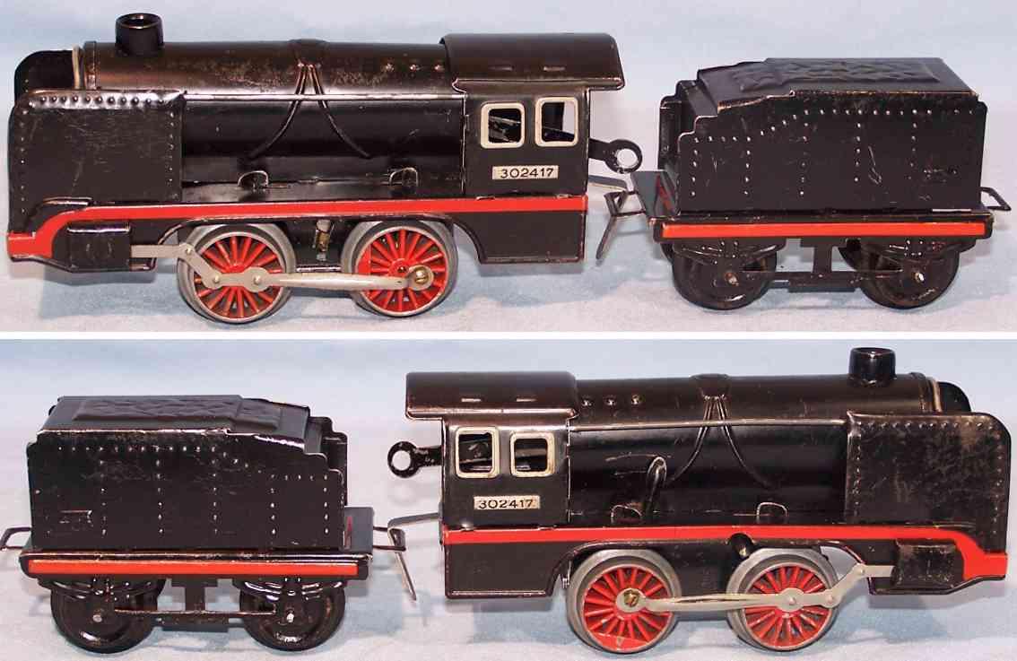 kraus-fandor 302417 spielzeug eisenbahn dampflokomotive mit tender