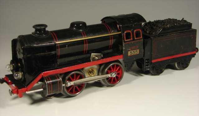 kraus-fandor 555/128 railway toy engine 20-volt steam locomotive gauge 0