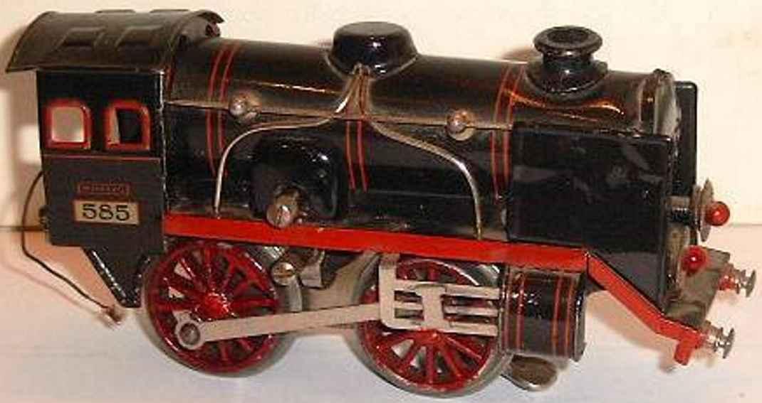 kraus-fandor 585/128 railway toy engine 20 volt steam locomotive gauge 0