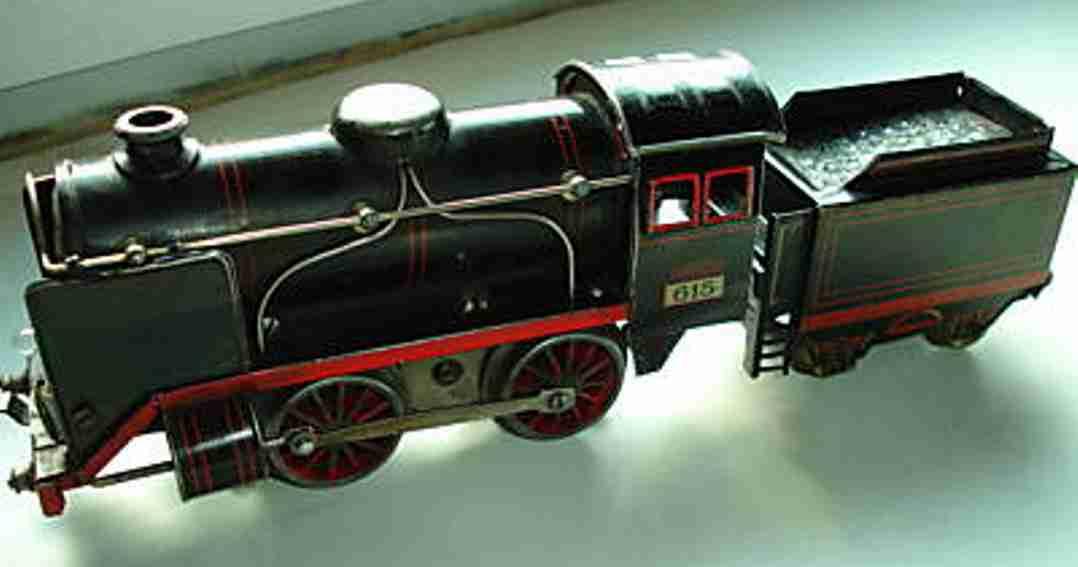 kraus-fandor 615/12 railway toy engine dragging tender locomotive gauge 0