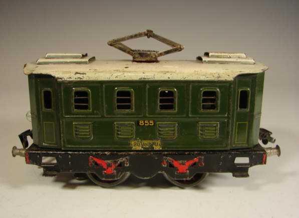kraus-fandor 855/8 railway toy engine 20 volts full railway locomotive gauge 0