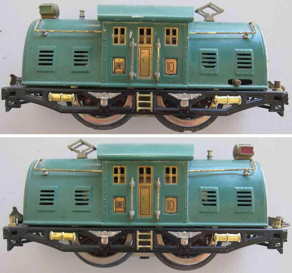 lionel 10 spielzeug eisenbahn elektrolokomotive standard gauge