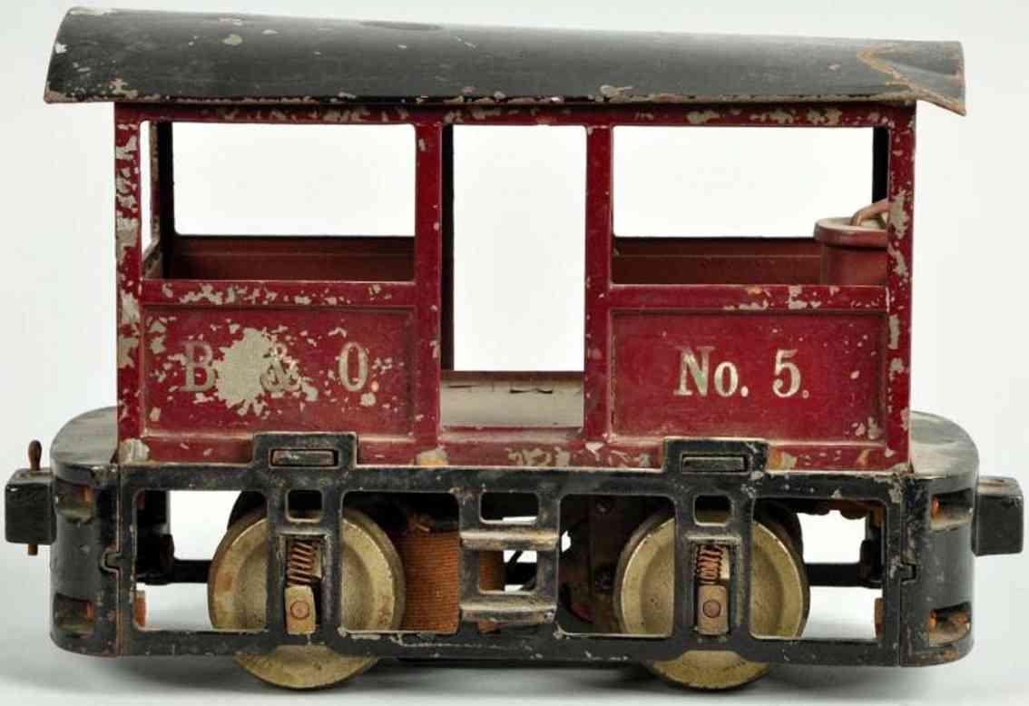 lionel 100 elektrische lokomotive kstanienbraun spur 2 7/8