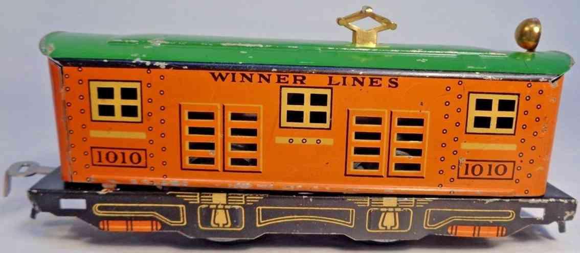 lionel 1010 railway toy engine winner lines electric locomotive orange green gauge 0
