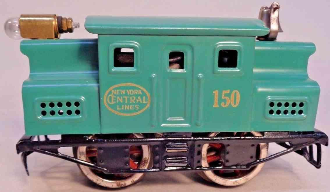 lionel 150 railway toy engine electric locomotive peacock gauge 0