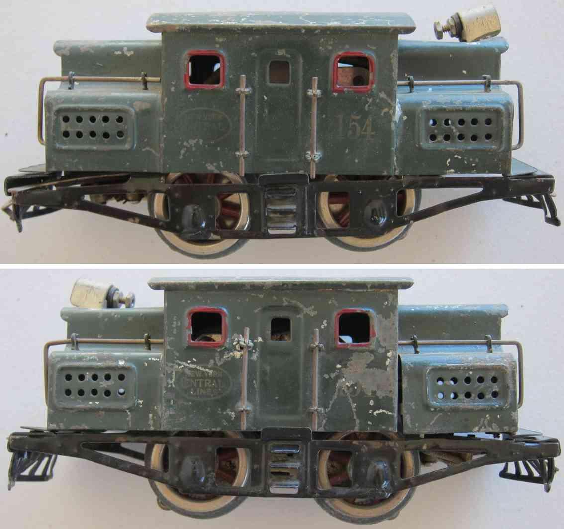 lionel 154 spielzeug eisenbahn elektrolokomotive in dunkelgruen spur 0