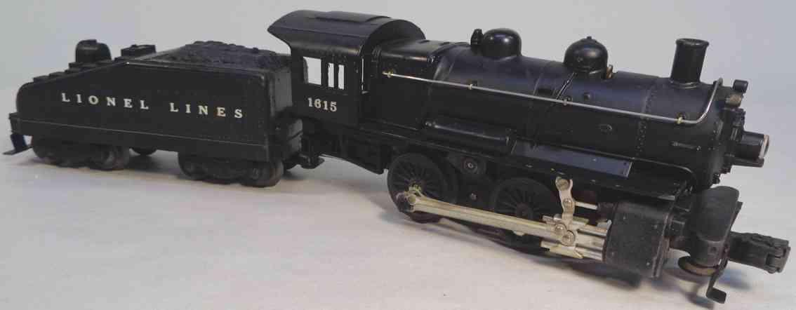 lionel 1615 spielzeug eisenbahn lokomotive schwarz spur 0 027