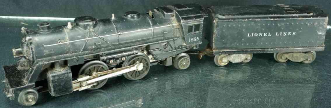 lionel 1655 railway toy engine columbia locomotive die-cast black gauge 0
