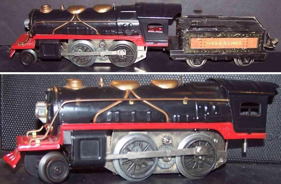 lionel ives 1661e spielzeug eisenbahn dampflokomotive tender 1661t schwarz spur 0