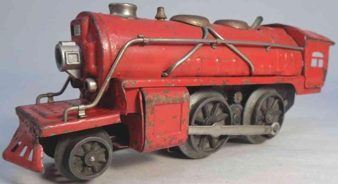 lionel ives 1661e railway toy steam engine red gauge 0