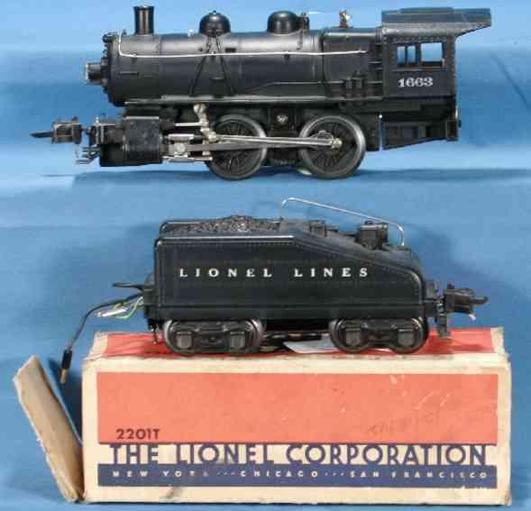 Lionel 1663 Lokomotive mit 2201T Tender