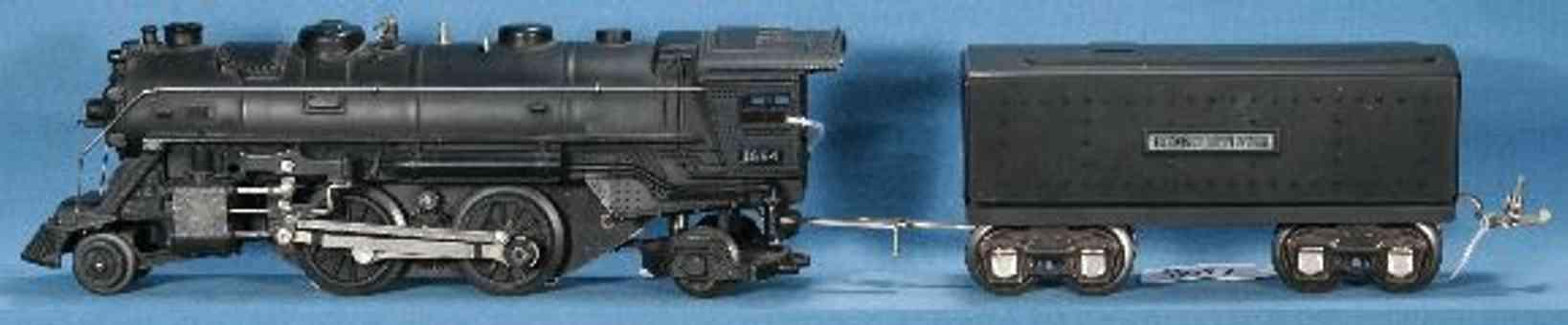 lionel 1664E/III spielzeug eisenbahn damplokomotive 1689t mit tender in schwarz spur 0