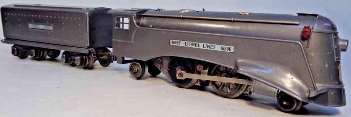 lionel toy engine vanderbilt locomotive 1689e  gunmetal tender 1689t gauge 0 027