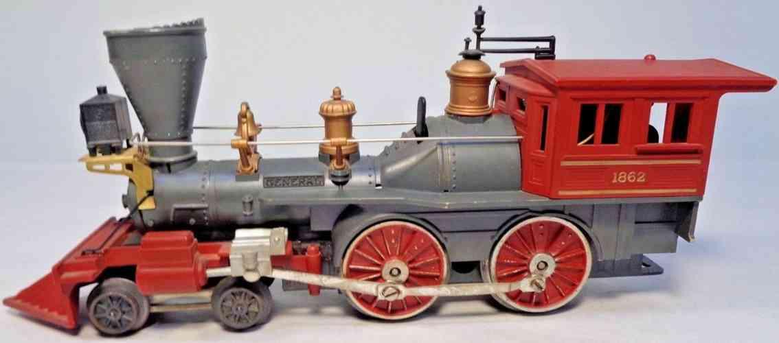lionel 1862 spielzeug eisenbahn lokomotive general schwarz rot spur 027