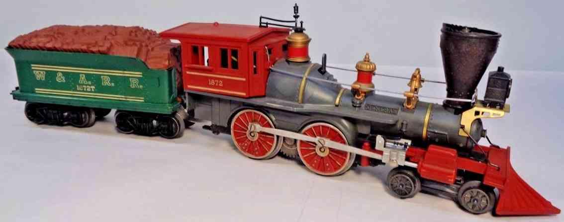 lionel 1872 spielzeug eisenbahn lokomotive 1872 amerikanischer stil schwarz spur 0