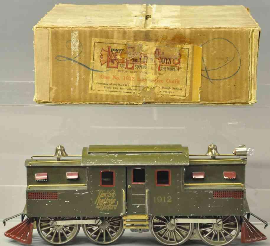 lionel 1912 spielzeug eisenbahn elektrolokomotive gruen standard gauge