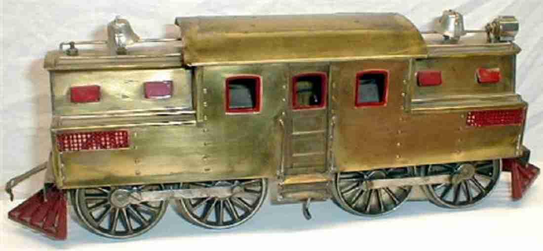 lionel 1912 special spielzeug eisenbahn elektrolokomotive messing standard gauge