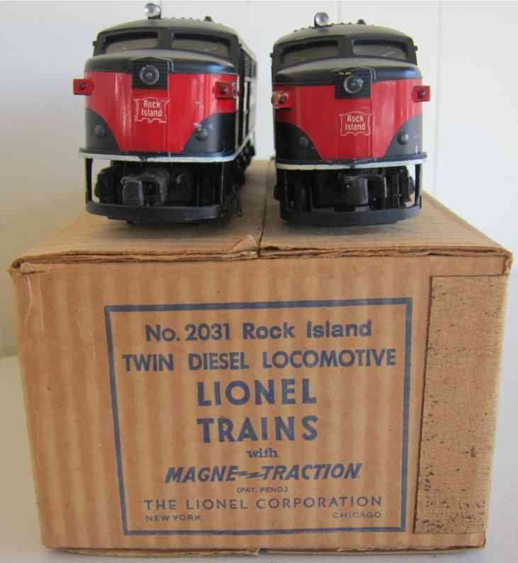 lionel 2031 spielzeug eisenbahn rock island zwillings-diesellokomotive