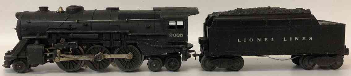 lionel 2035 railway toy engine locomotive steam engine tender gauge 0