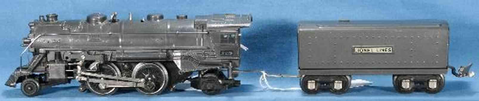 lionel 229 spielzeug eisenbahn lokomotive mit tender 1689t spur 0
