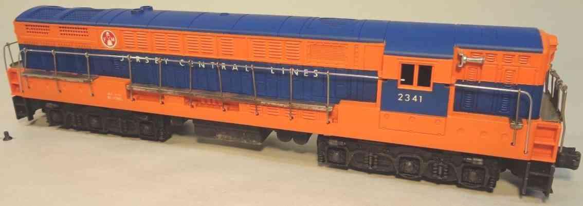 lionel 2341 spielzeug eisenbahn diesel-lokomotive blau orange spur 0