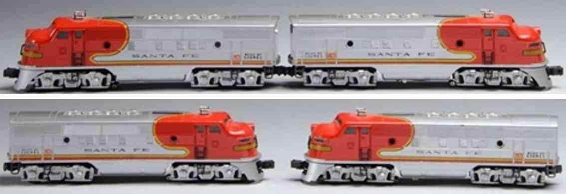 lionel 2343 railway toy engine diesel electric locomotive silver gauge 0