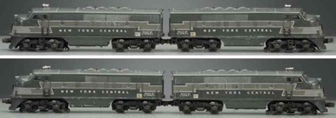 lionel 2344 railway toy engine diesel locomotive new york central gauge 0