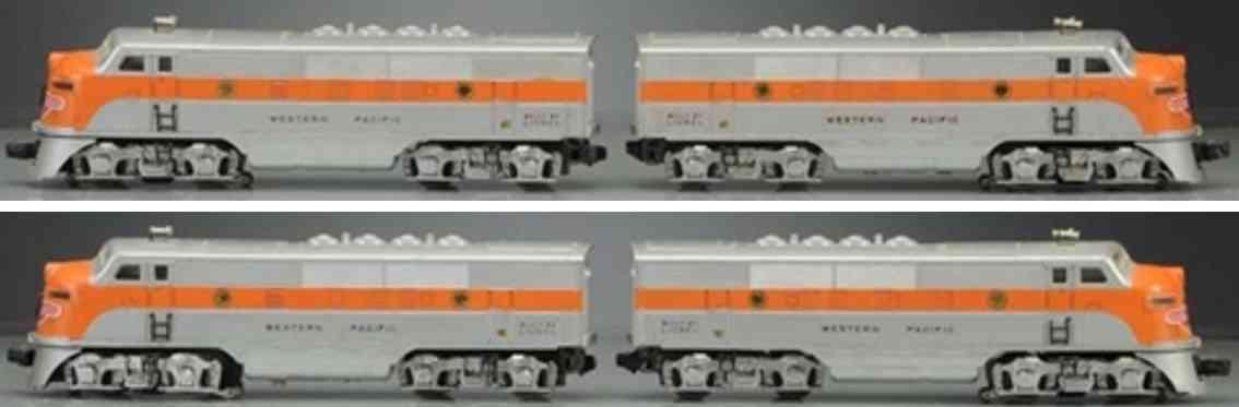 lionel 2345 spielzeug eisenbahn diesllokomotive silber orange western pacific spur 0